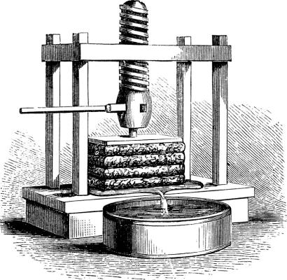 Presse ancienne de pommes à cidre
